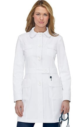 "koi Women's Geneva with Contrast 35¾"" Lab Coat"