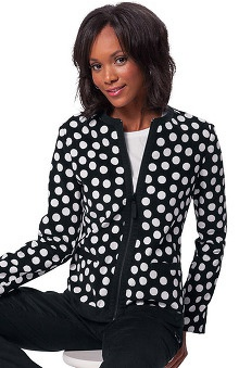 Clearance koi Women's Megan Zip Front Geometric Print Jacket