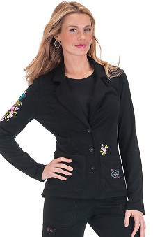 Clearance koi Limited Edition Women's Fiona Floral Applique Scrub Jacket
