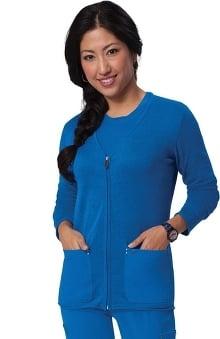 koi Sapphire Women's Fefe Zip Front Sweater