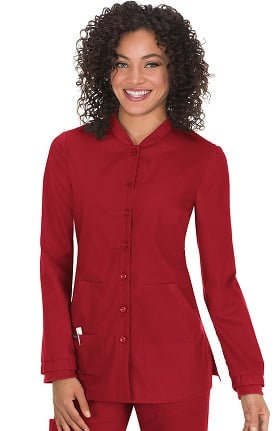 koi Comfort Women's Callie Button Front Scrub Jacket
