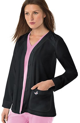 koi Mariposa Women's Lisa Button Front Solid Scrub Jacket