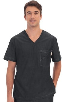 koi Men's Earl V Neck Scrub Top