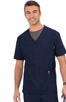 koi Men's Oliver V-Neck Solid Scrub Top