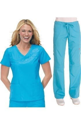 Orange Standard Women's Scrub Set