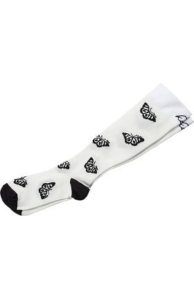 koi Accessories Women's Heart Print 8-15 mmHg Compression Sock
