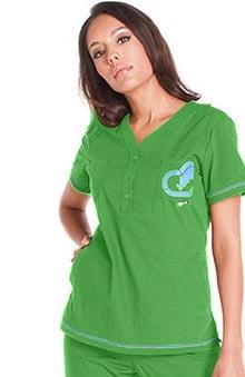 Clearance Ecko Women's Lafayette Solid Scrub Top