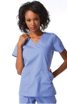 LGE: Ecko Women's Brandy V-Neck Solid Scrub Top