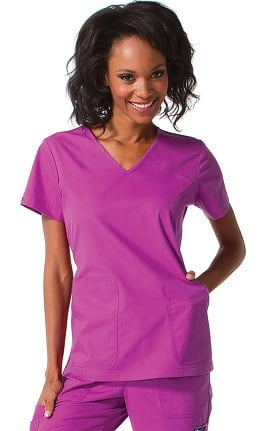 Clearance Ecko Women's Brandy V-Neck Solid Scrub Top