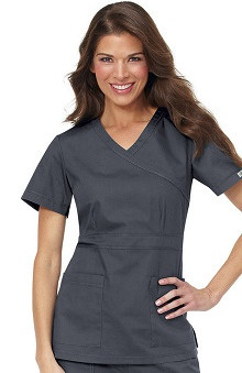 Scrubs: Ecko Women's Nicki Mini Mock Wrap Solid Top