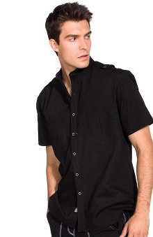 firefighter print: Ecko Men's Barclay Back Print Scrub Top