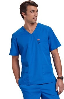 Orange Standard Unisex Balboa V-Neck Solid Scrub Top