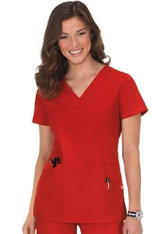 Orange Standard Women's Del Mar Mock Wrap Scrub Top