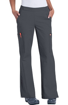 Clearance Orange Standard Women's Catalina Flare Leg Scrub Pant