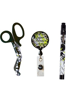 Koi Accessories Penlight, Scissors & Badge Reel Kit