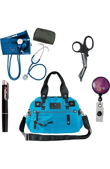 Koi Accessories Utility Bag & Badge Reel With Allheart Penlight, Scissors & Diagnostic Kit