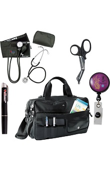 Koi Accessories Nurse Bag & Badge Reel With Allheart Penlight, Scissors & Diagnostic Kit