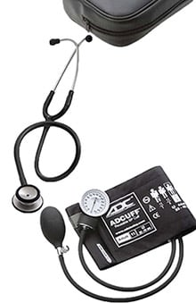 Stethoscopes new: 3M Littmann Classic II SE Stethoscope with ADC Blood Pressure Monitor Kit