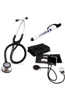 3M™ Littmann® Cardiology III™ Stethoscope, Prestige Medical Adult Sphygmomanometer with Case and Quick Lites Penlight Kit