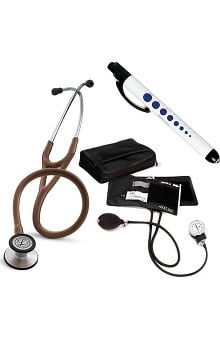 3M™ Littmann® Cardiology III™ Stethoscope, Prestige Medical Adult Sphygmomanometer with Case, Quick Lites Penlight and Retracteze ID Clip Kit