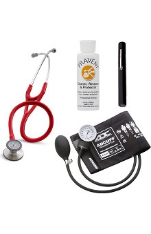 3M™ Littmann® Cardiology III™, ADC Phosphyg Sphygmomanometer, Penlight and Praveni Cleaning Kit