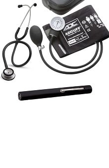 Stethoscopes new: 3M Littmann Classic Stethoscope and ADC Blood Pressure Monitor with Penlight Kit
