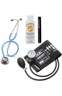3M™ Littmann® Classic II SE, ADC Phosphyg Sphygmomanometer, Penlight and Praveni Cleaning Kit