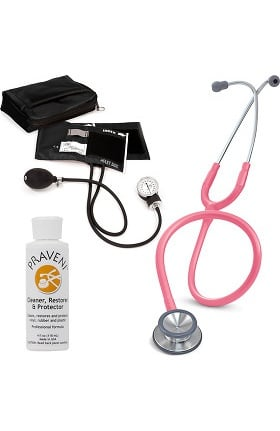 3M Littmann Classic II SE, Prestige Medical Adult Sphygmomanometer with Case, and Praveni Cleaning Kit
