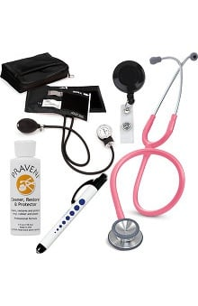 3M™ Littmann® Classic II SE, Prestige Medical Adult Sphygmomanometer with Case, Quick Lites Penlight and Praveni Cleaning Kit