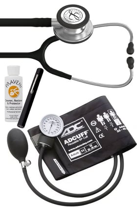 3M Littmann Classic III™, ADC Phosphyg Sphygmomanometer, Penlight and Praveni Cleaning Kit