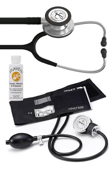 3M™ Littmann® Classic III™, Prestige Medical Basics Sphygmomanometer, and Praveni Cleaning Kit