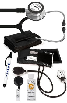 3M™ Littmann® Classic III™ Prestige Medical Adult Sphygmomanometer with Case, Quick Lites Penlight and Praveni Cleaning Kit