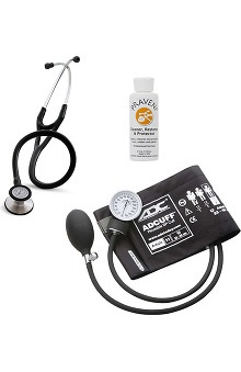 3M™ Littmann® Cardiology III™, ADC Phosphyg Sphygmomanometer, and Praveni Cleaning Kit