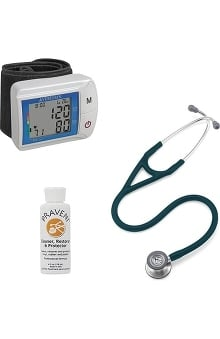 3M™ Littmann® Cardiology IV™ Stethoscope With Veridian Healthcare Digital Blood Pressure Monitor & Praveni Cleaning Kit