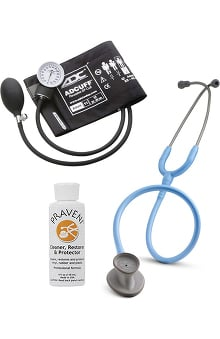 3M™ Littmann® Lightweight II S.E. Stethoscope With ADC® Prosphyg 760 Aneroid Sphygmomanometer & Praveni Cleaning Kit