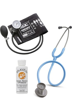 3M Littmann Lightweight II S.E. Stethoscope with ADC® Prosphyg 760 Aneroid Sphygmomanometer & Praveni Cleaning Kit