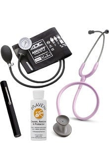 3M™ Littmann® Lightweight II S.E. Stethoscope With ADC® Prosphyg 760 Aneroid Sphygmomanometer, Adlite Plus™ Disposable Penlight & Praveni Cleaning Kit