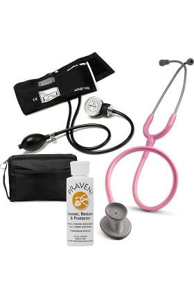 3M Littmann Lightweight II S.E. Stethoscope with Prestige Medical Aneroid Sphygmomanometer, Carrying Case & Praveni Cleaning Kit