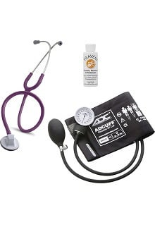 "3M™ Littmann® Select 28"" Stethoscope With ADC® Prosphyg 760 Aneroid Sphygmomanometer & Praveni Cleaning Kit"
