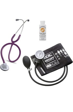 "3M Littmann Select 28"" Stethoscope With ADC® Prosphyg 760 Aneroid Sphygmomanometer & Praveni Cleaning Kit"