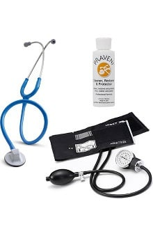 "3M™ Littmann® Select 28"" Stethoscope With Prestige Medical Basics Aneroid Sphygmomanometer & Praveni Cleaning Kit"