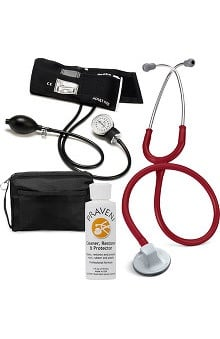 "3M™ Littmann® Select 28"" Stethoscope With Prestige Medical Aneroid Sphygmomanometer, Carrying Case & Praveni Cleaning Kit"