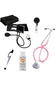 "3M™ Littmann® Select 28"" Stethoscope With Prestige Medical Aneroid Sphygmomanometer, Carrying Case, Pupil Gauge Quick Lites Penlight, Retracteze Badge Holder & Praveni Cleaning Kit"