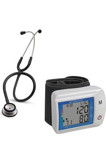 Stethoscopes new: 3M Littmann Classic Stethoscope and Veridian Blood Pressure Monitor Kit