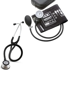 Stethoscopes new: 3M Littmann Cardiology Stethoscope and Adult ADC Blood Pressure Monitor Kit