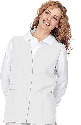 Landau Women's Double Pocket Solid Scrub Vest