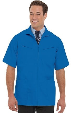 Landau Men's Professional Lab Solid Scrub Jacket