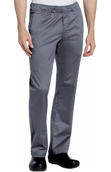 Stretch Men's by Landau Elastic Waist Cargo Scrub Pant