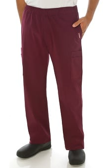 Clearance Stretch Men's by Landau Elastic Waist Cargo Scrub Pant