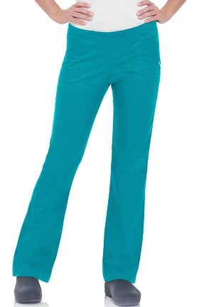 Clearance Smart Stretch by Landau Women's Natural Flare Leg Scrub Pant